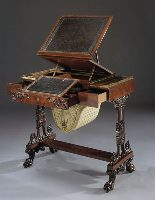 Neo-Classical Work Table, England circa Davis W. and Ellen N. Moore Design  Gallery in Denver Art Museum - 14 Best Antique Furniture Images On Pinterest Antique Furniture