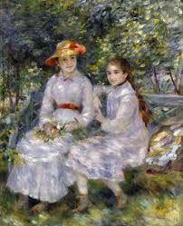 Les Filles de Paul Durand-Ruel, Marie Thérèse et Jeanne par Pierre Auguste ...