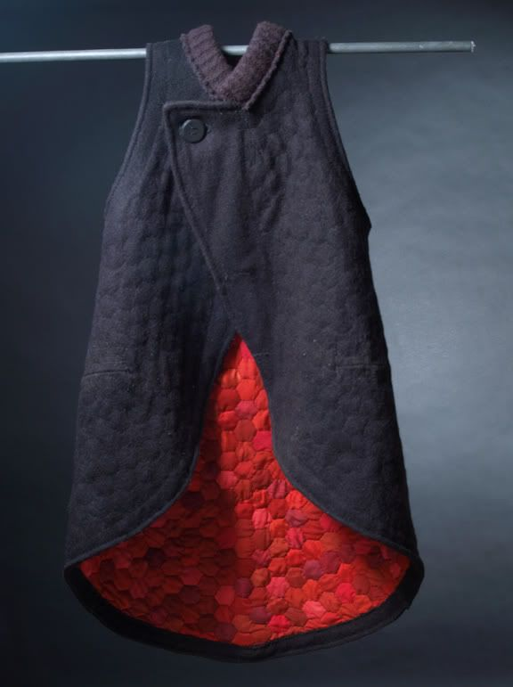 Sleeveless Wool and Silk Quilted Jacket