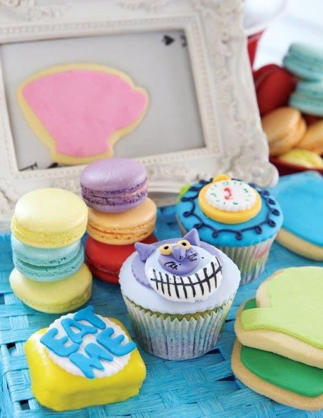 A selection of cupcakes, macaroons, biscuits and petit fours for Christmas - Belle's Patisserie