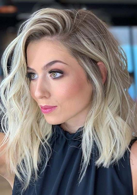 Gorgeous Medium Length Blonde Hairstyles & Haircuts in 2019