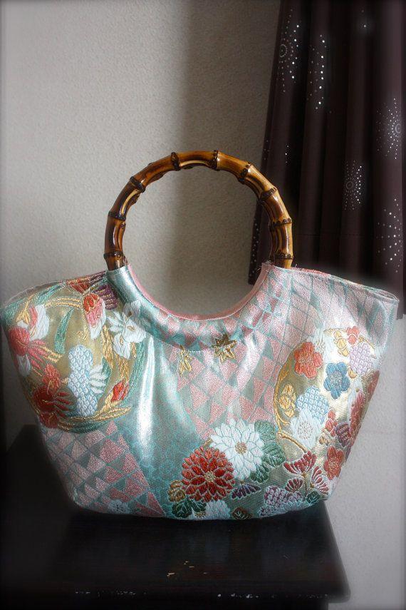 Kimono / Obi / Bag / LB531 Beautiful Japanese by RummyHandmade, $55.00