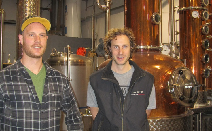 That's the spirit Master distiller Tyler Schramm (right) and his brother, assistant distiller Jake Schramm of Pemberton Distillery. - Photo by Cathryn Atkinson
