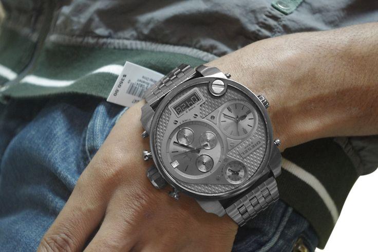 Diesel mens black dial analog Chronograph quartz watches DZ7247 #Diesel #Watches #wristwatch