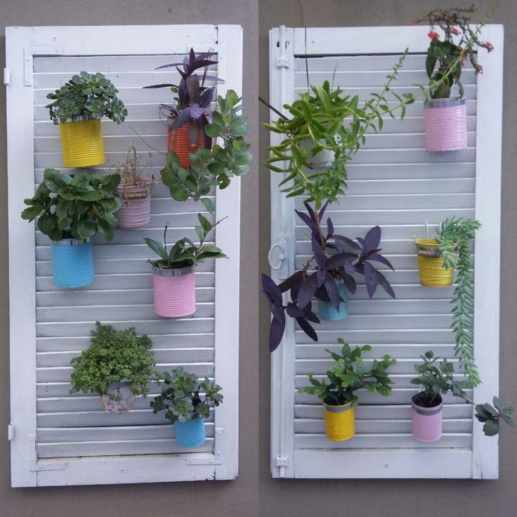 persianas recicladas con plantas