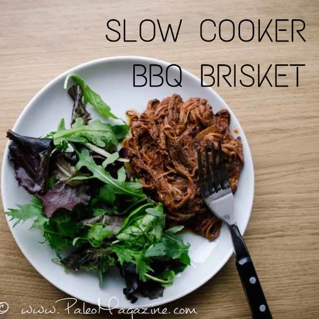 Get this easy slow cooker Paleo BBQ brisket recipe and enjoy this for dinner with practically no work! Photos and detailed printable instructions available.