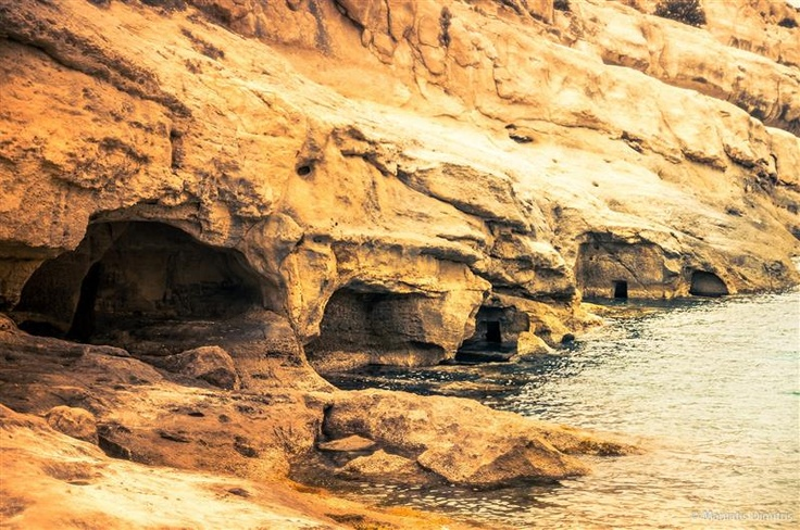 VISIT GREECE| Matala, The famous caves, Crete