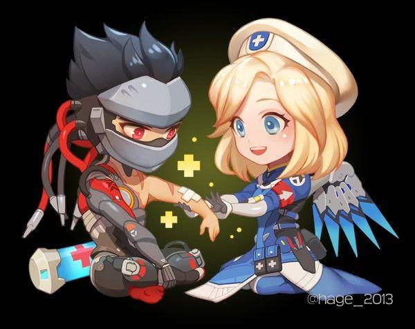 Genji mercy blackwatch combat medic