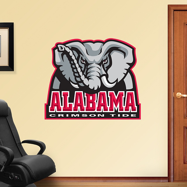 17 best images about ideas for braxton 39 s room on pinterest for Alabama football wall mural