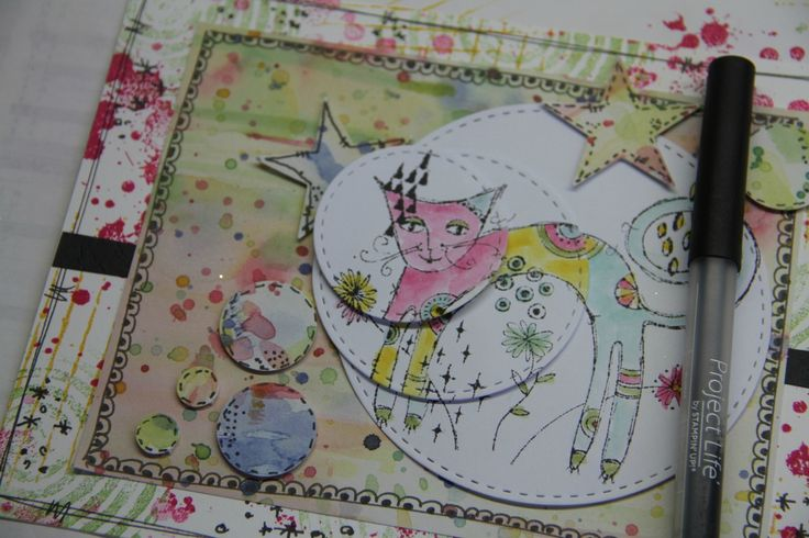CARTE MIXED MEDIA CHAT MARIANNE DESIGN