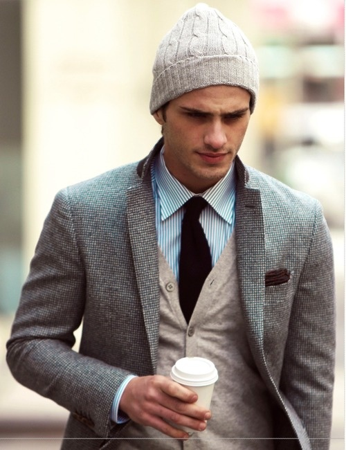 Textures & Patterns are a simple way to spice up an outfit. The hat, though, totally pull s the outfit together as a whole.