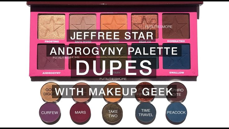 JEFFREE STAR ANDROGYNY PALETTE DUPES WITH MAKEUP GEEK EYESHADOWS I Futil...