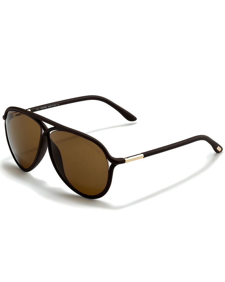 Sunglasses On Sale in Outlet, Striped Brown, 2017, one size Tom Ford