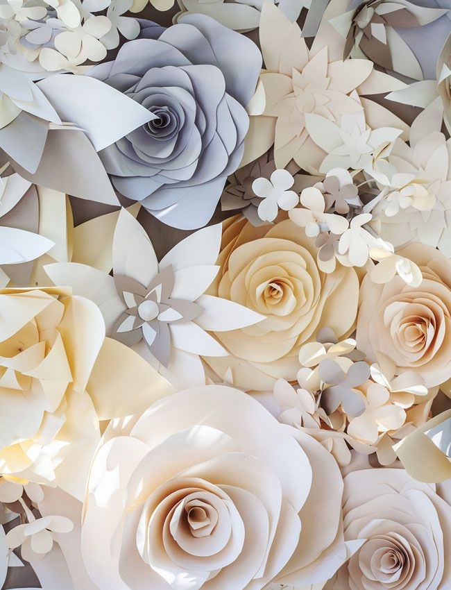 paper flower wall....pretty colors. made me think of you wedding