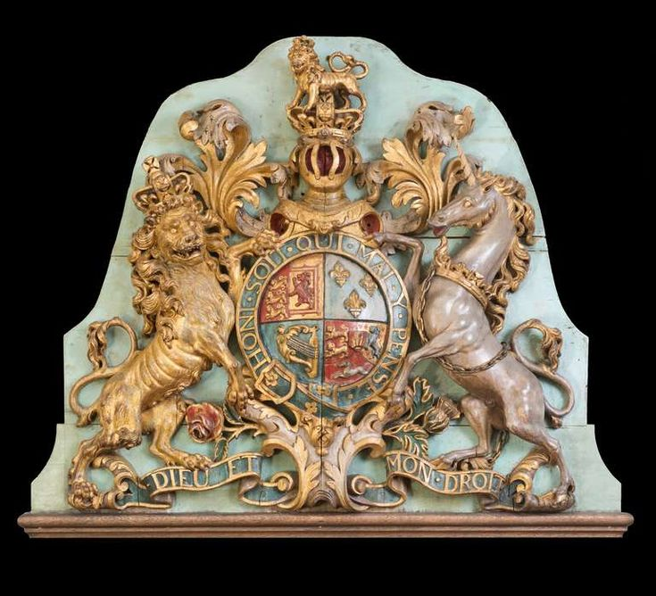 From a unique collection of antique - Georgian period carved English coat of arms from Charlecote in Kansas City.      http://www.1stdibs.com/furniture/wall-decorations/wall-mounted-sculptures/