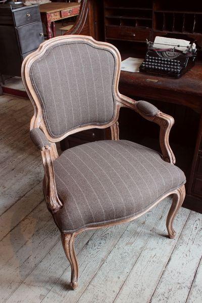 Louis Style Tweed Chair