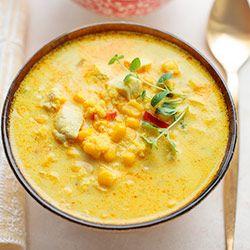 Zupa kukurydziana z kaszą jaglaną i kurczakiem | Kwestia Smaku