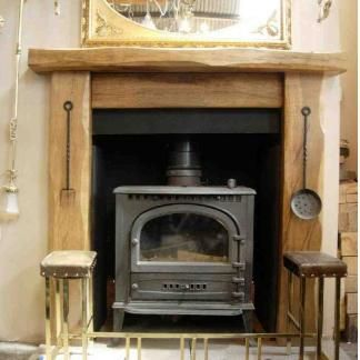 British hand crafted oak fire surrounds - Rustic oak beams and furniture