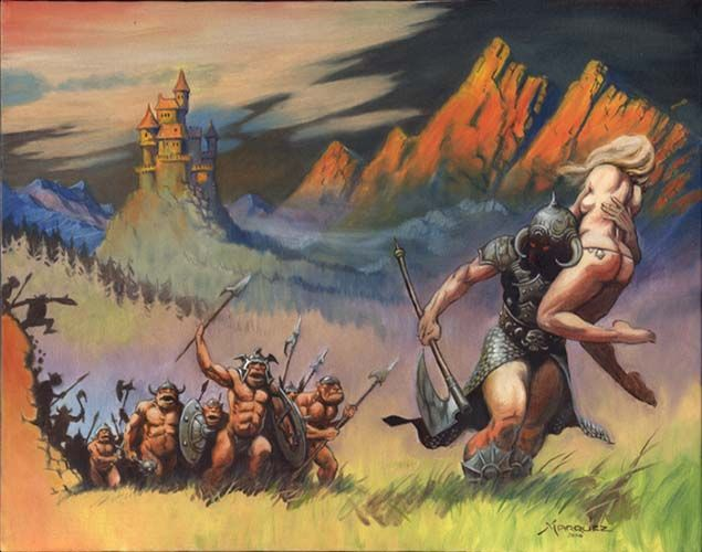 Death dealer and cavemen