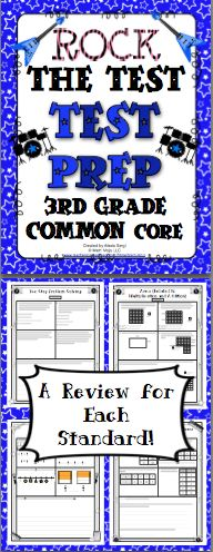 3rd Grade Common Core Math Test Prep (Rock the Test): Help your students rock the test! There are multiple choice, short answer, and longer extended performance tasks. You can pick from traditional multiple choice or multiple selection (multiple choice questions with one or more correct answer choices). Wow! $