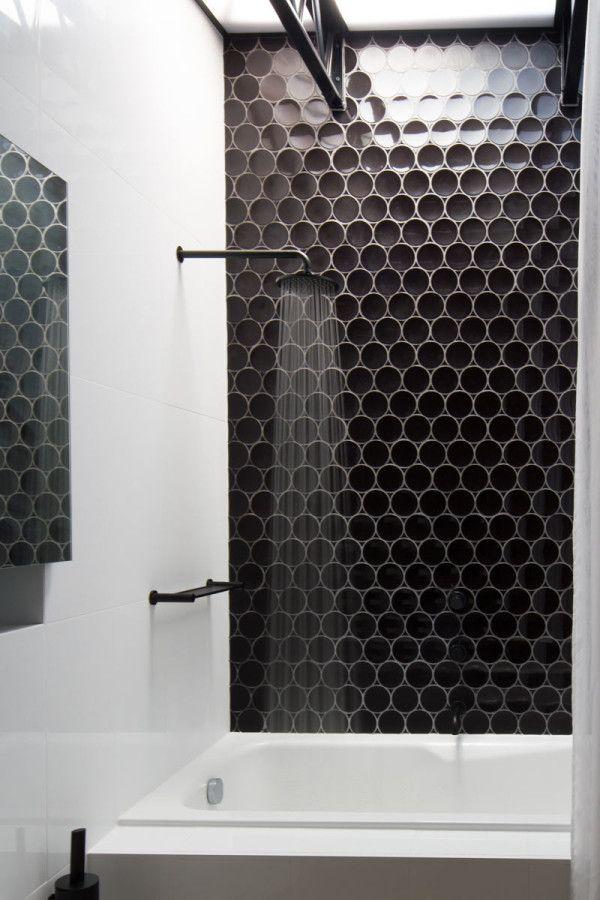 A House That Says Hello. Bathrooms DecorBlack Tile ... Part 82