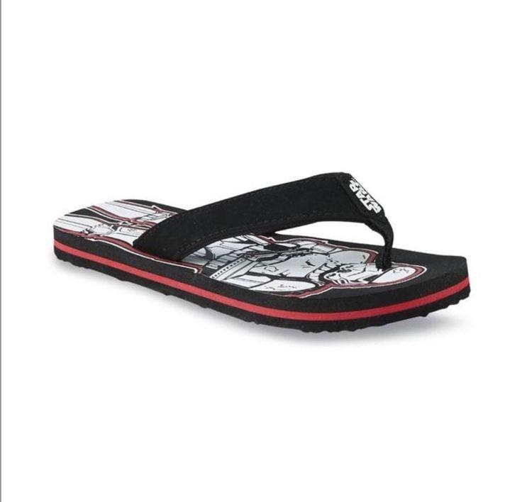 Star Wars Boys Flip Flops Size 13 1 Darth vador Storm | eBay