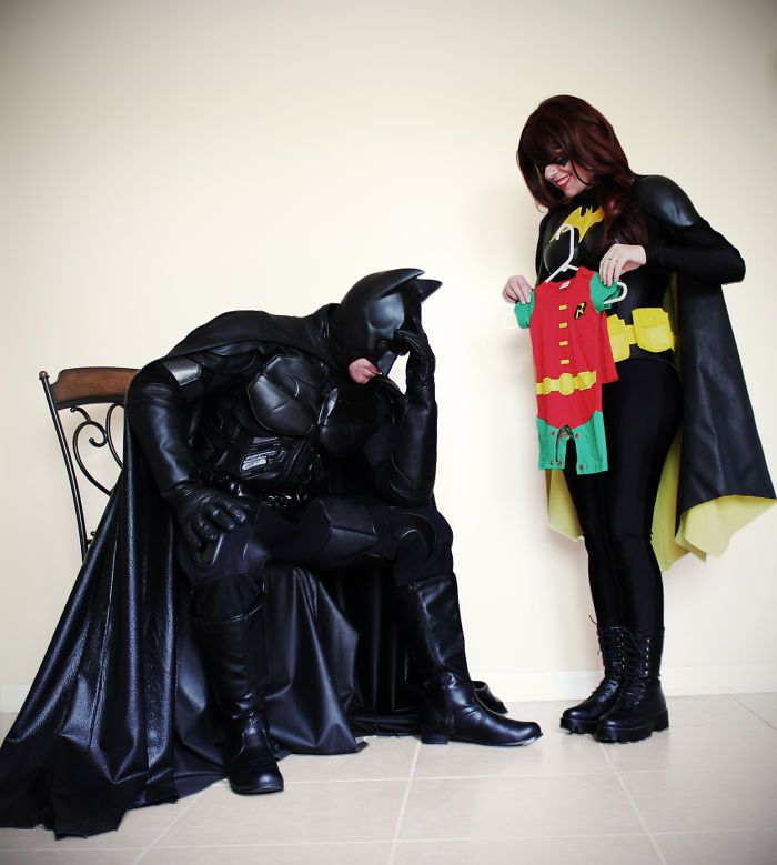 """nice Couple Announces They're Expecting """"A Sidekick"""" As Batman And Batgirl, And Their Pics Are Going Viral"""