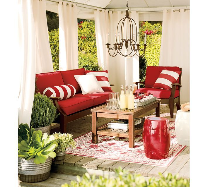 Decoration, Summer Decor Ideas Dining Outdoor Summer Decorations Red Sofa  Living Room On Outdoor Warm