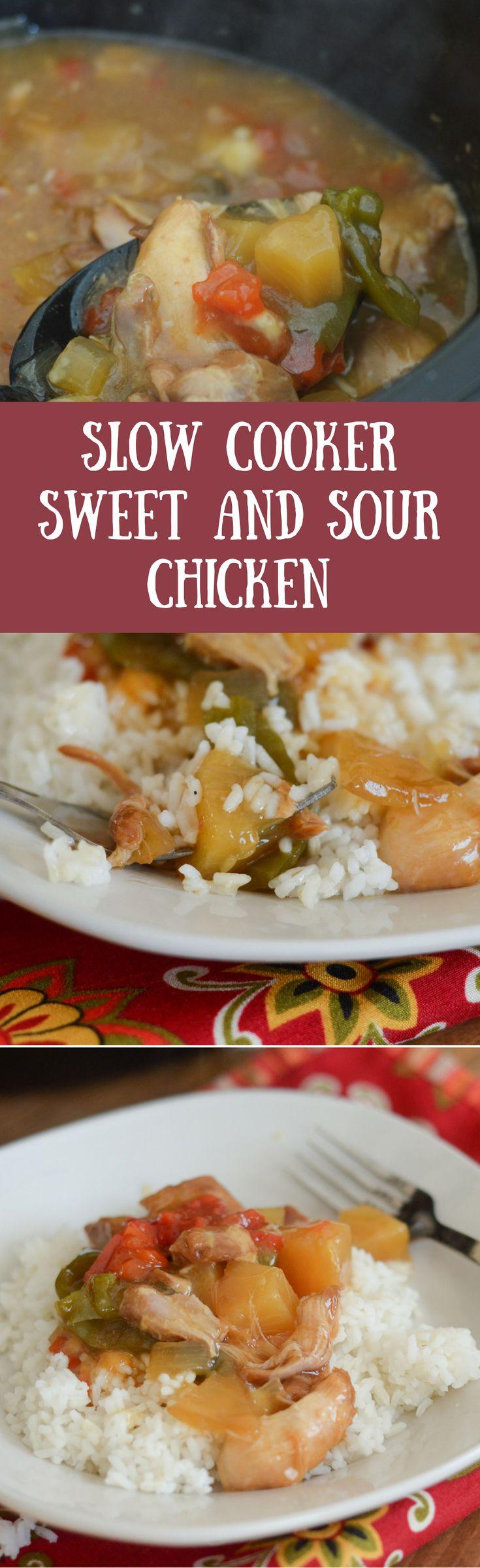 Gluten-Free Slow Cooker Sweet N' Sour Chicken