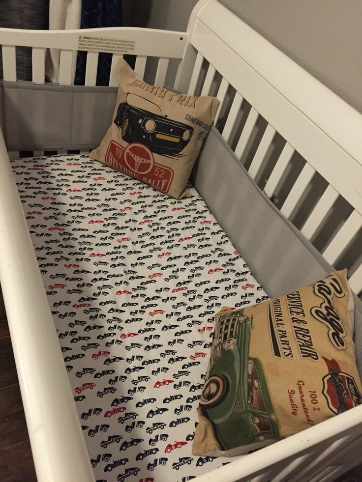 Hot rod, vintage car nursery. Race car sheets. Vintage hotrod pillows.
