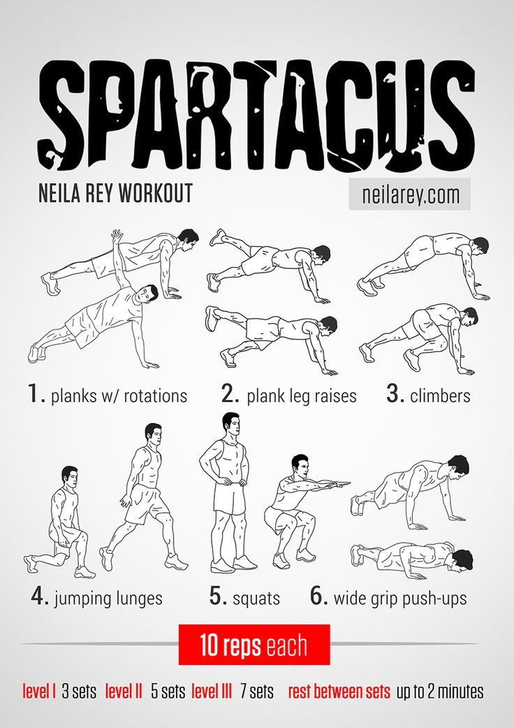 Spartacus Workout for days when you have no equipment.