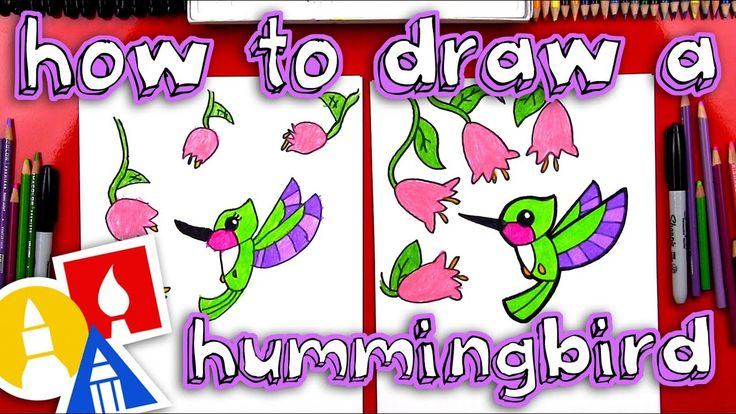 How to draw a hummingbird for young artists youtube