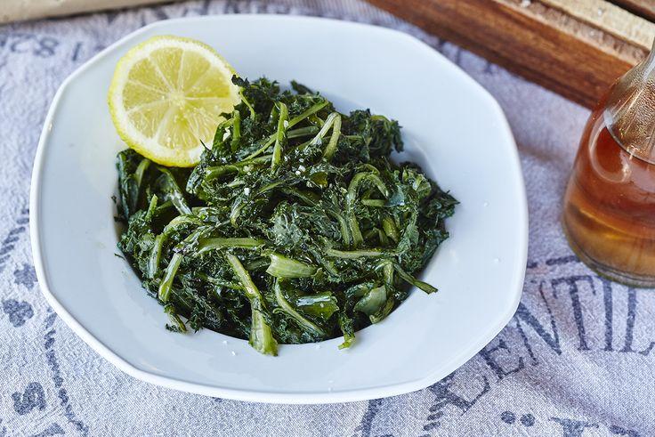Χόρτα | Steamed greens | Fresh Salads | Pinterest | Green