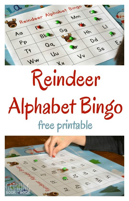 Reindeet Alphabet Bingo - A fun alphabet game - Reindeer alphabet bingo is a great literacy activity with a Christmas theme to work on letter recognition and letter sounds.