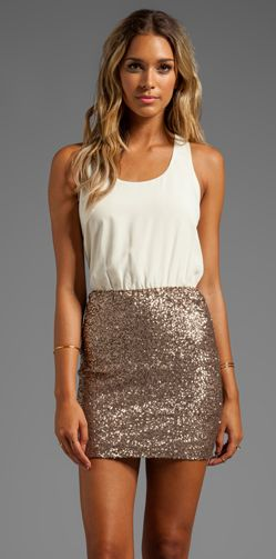 Sequin skirt if you did the big dramatic tulle for one look, what if you had a contrast of something like this?????
