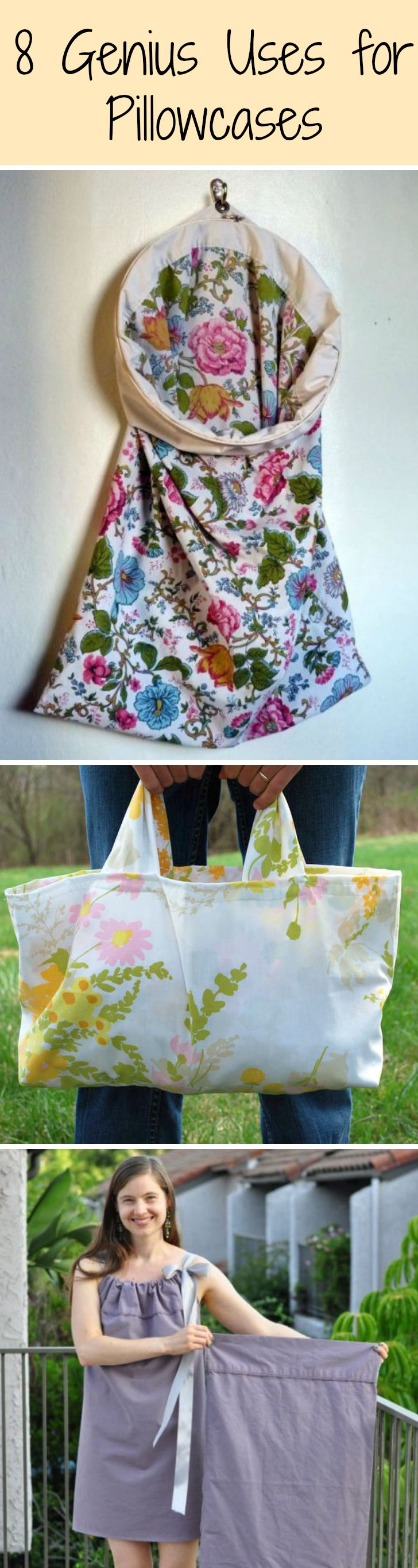 Steal a few from your linen closet to use as a laundry bag, tote, dress...