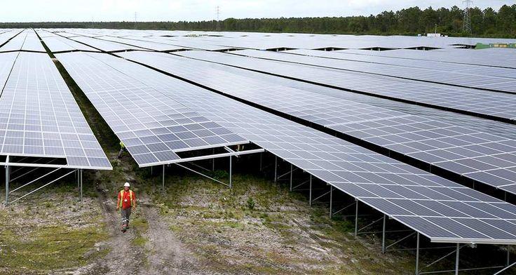 Centrale solaire de Cestas (près de Bordeaux) Electricité: le solaire photovoltaïque devient compétitif en France, Énergie - Environnement,