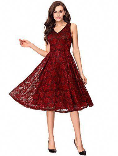 e3472ba0ec2 Mens Fashion Night Out. Womens V Neck Elegant Midi Floral Lace Swing  Wedding Guest Dress Reviews  MensFashionNIghtOut