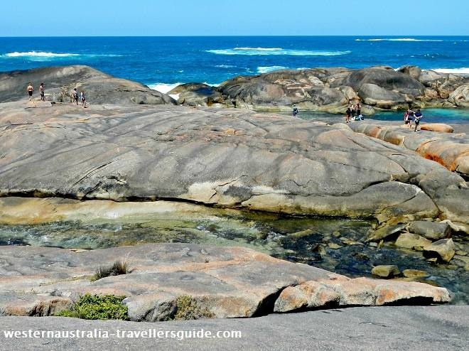 Explore rock pools at Greens Pool, Western Australia