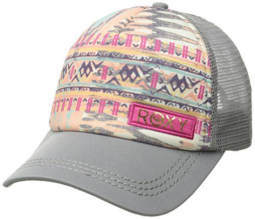 Roxy Women's Truckin Sunset Bay Trucker Hat, Cool Grey, One Size - http://todays-shopping.xyz/2016/07/27/roxy-womens-truckin-sunset-bay-trucker-hat-cool-grey-one-size/