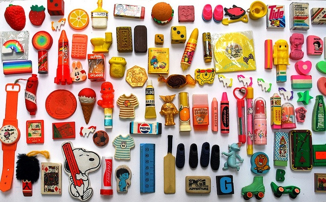 Collecting rubbers / erasers - involved a regular trip to Granny Mays and souvenir shops.