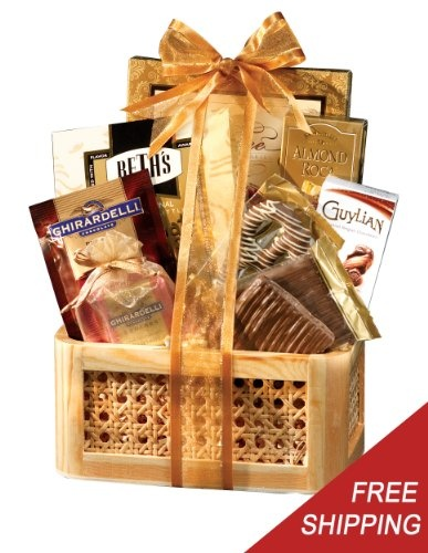 Best 25 hampers melbourne ideas on pinterest shower stalls gourmet chocolate holiday gift basket a gourmet gift basket idea negle Images
