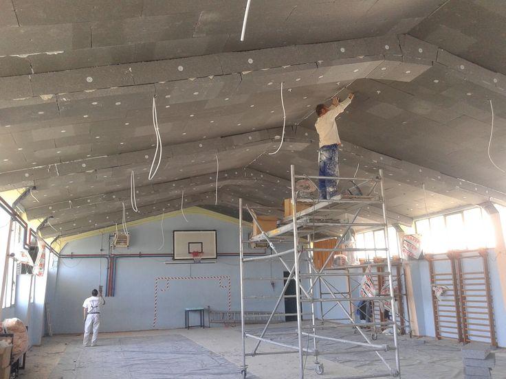 Ενεργειακή αναβάθμιση κτιρίων Γυμνασίου Πανοράματος - Εσωτερική θερμομόνωση ορόφων όλων των κτισμάτων με γραφιτούχα διογκωμένη πολυστερίνη. Σύστημα Thermomaster (2015)