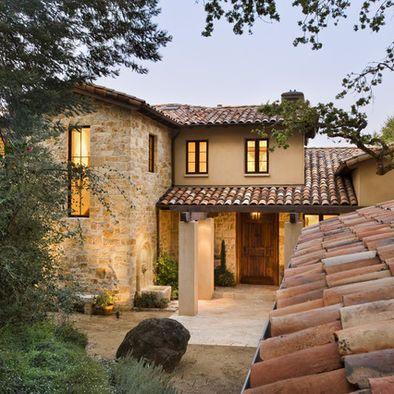 Mediterranean Home Mansard Roof Design, Pictures, Remodel, Decor and Ideas