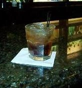 Cubra libre;fancy drink-the beloved rum n coke  100 mL Cola  50 mL White rum.     Build all ingredients in a highball glass filled with ice. Garnish with lime wedge.