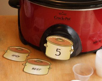 Chili Cookoff - Chili Pot Labels Printables - DIGITAL File