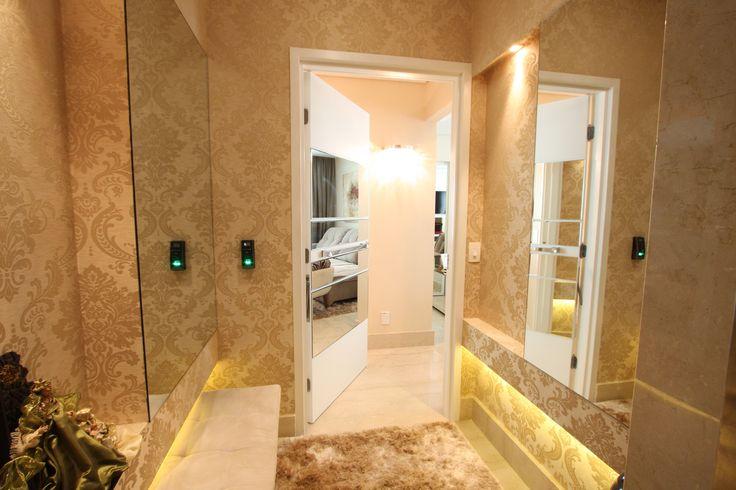 hall, hall de entrada, hall de elevador, decoração, inspiração. Projeto de Arquiteta Cristiane Vassoler