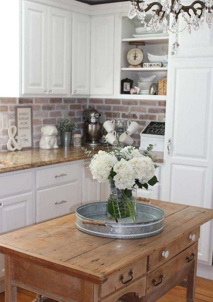 32 Popular Modern Farmhouse Kitchen Backsplash Ideas