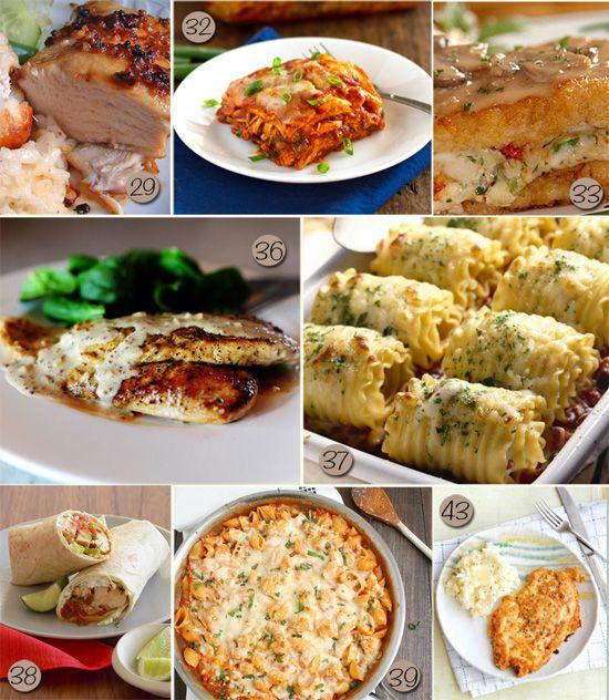 78 Dinner Ideas | Meal Planning #recipes