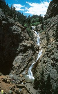 Seven Falls in Colorado Springs                    One of the best places!